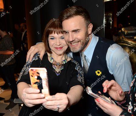 Debbie Chazen and Gary Barlow