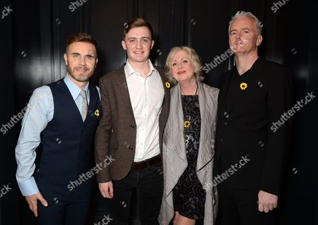 Gary Barlow, Ben Hunter, Claire Moore and Tim Firth