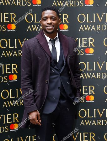 Adam J Bernard arrives for the the Olivier Awards nominees luncheon in London