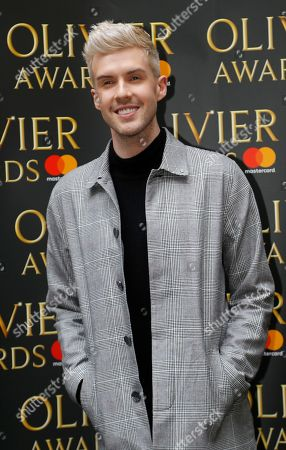 Jamie Lambert arrives for the the Olivier Awards nominees luncheon in London