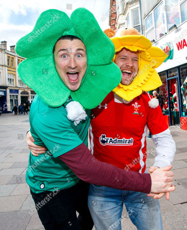 Wales vs Ireland. Ronan Callaghan from Enniskillen, Fermanagh and Ben Lee from Wales