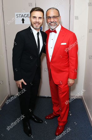 Theo Paphitis with Gary Barlow