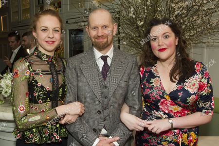 Stock Picture of Ellie White (Marianne), Sean Foley (Adaptation/Director) and Katy Wix (Elise)