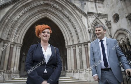 Food blogger Jack Monroe leaves the High Court with her solicitor Mark Lewis (R). Jack Monroe has won £24,000 in her claim for libel damages after 'serious harm' was caused over tweets from the Daily Mail columnist Katie Hopkins - who also has to pay £24,000 in costs.