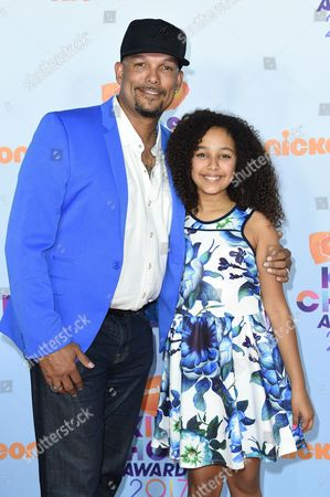 Stock Photo of David Justice and Raquel Justice
