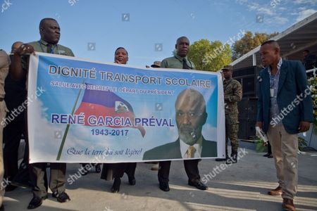 Editorial picture of Haiti pays tribute to late former President Rene Preval, Puerto Au Prince - 11 Mar 2017