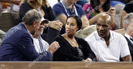 Larry Ellison, Mike Tyson and Kiki Spicer