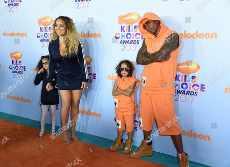 Mariah Carey, Nick Cannon, Monroe Cannon and Moroccan Cannon