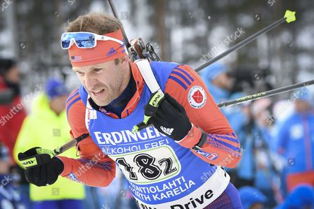 Lowell Bailey of USA  in action during the Single Mixed Relay Competition at the Kontiolahti Biathlon Stadium in Finland, 12 March 2017.