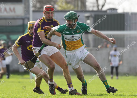 Offaly vs Wexford. Offaly's Derek Morkan and Paul Morris of Wexford