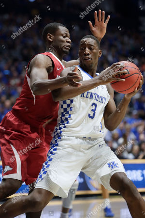 Edrice Adebayo, Moses Kingsley Kentucky forward Edrice Adebayo (3) is defended by Arkansas forward Moses Kingsley in the first half of an NCAA college basketball game for the championship of the Southeastern Conference tournament, in Nashville, Tenn
