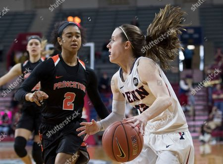 Taylor Brown, Kasey Chambers Pennsylvania's Kasey Chambers, right, drives to the basket against Princeton's Taylor Brown, left, during the first half an NCAA college basketball championship game in the Ivy League Tournament, in Philadelphia. Pennsylvania won 57-48