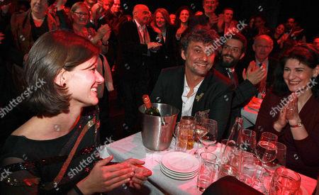 Stock Picture of Jonas Kaufmann, girlfriend Christiane Lutz (l.), Anja Harteros