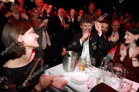 Stock Photo of Jonas Kaufmann, girlfriend Christiane Lutz (l.), Anja Harteros