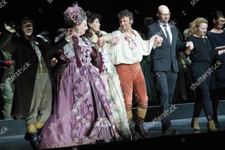 Stock Photo of Doris Soffel, Anja Harteros, Jonas Kaufmann, Philipp Stölzl