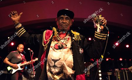 Editorial picture of Lee Scratch Perry in concert at The Classic Grand, Glasgow, Scotland, UK - 12 Mar 2017