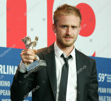 Ben Foster receiving the Silver Bear for the Best Script on behalf of Oren Moverman and Alessandro Camon for 'The Messenger'