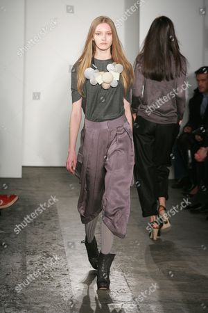 Stock Picture of Model on the catwalk