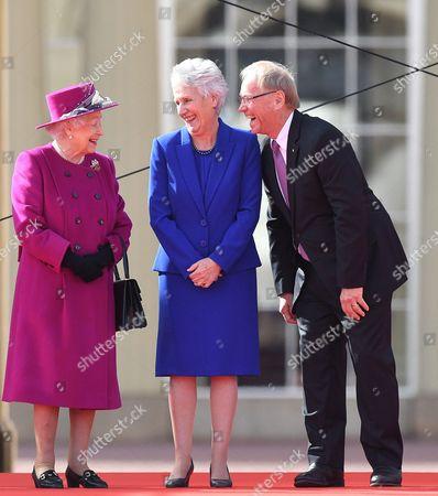 Stock Photo of Queen Elizabeth II, Louise Martin and Peter Beattie