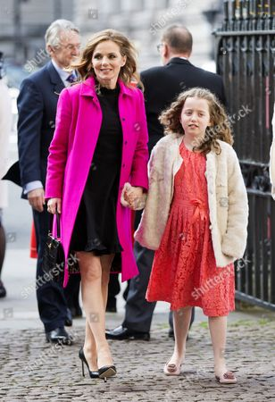 Geri Horner and daughter Bluebell Halliwell