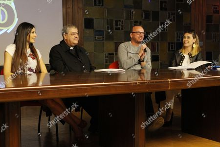 Elisabetta Gregoraci, Card.Crescenzio Sepe, Gigi D'Alessio, Fatima Trotta