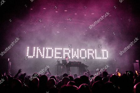 Members of British band Underworld Karl Hyde and Rick Smith perform in TivoliVredenburg in Utrecht, The Netherlands, 13 March 2017.