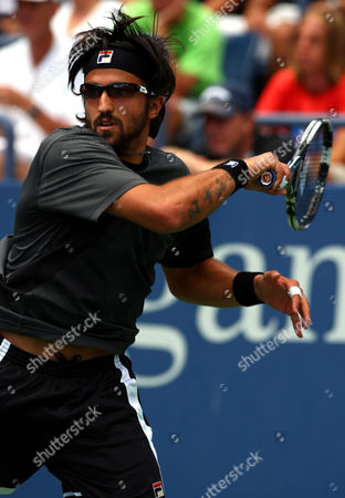 Jarko Tipsarevic of Serbia in Action at the Us Open 2010 United States New York