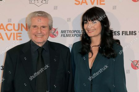 Director Claude Lelouch and Valerie Perrine