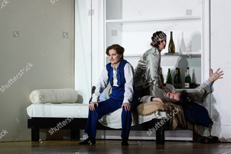 Editorial image of 'Partenope' opera by The English National Opera, London Coliseum, UK - 13 Mar 2017