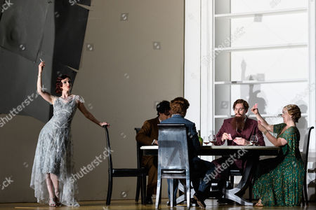 Editorial photo of 'Partenope' opera by The English National Opera, London Coliseum, UK - 13 Mar 2017