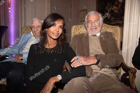Karine Le Marchand and Jean-Paul Belmondo