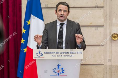 Stock Photo of Thierry Mandon, Secretary of State for Research
