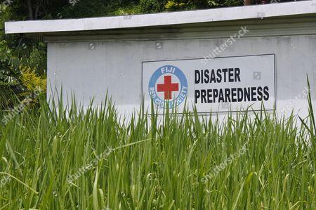 SAVUSAVU, FIJI - JAN 19 2017:Fiji Red Cross Disaster Preparedness. Since Cyclone Winston made landfall in Fiji on February 20th, the Fiji Red Cross has been able to reach 63,000 people with emergency relief.