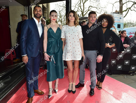 Karl Collins, Anna Passey, Sophie Porley, Duncan James and Rachel Adedeji