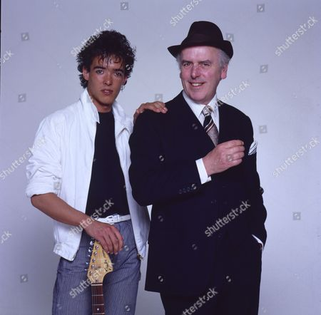 Editorial picture of George Cole and son Crispin Cole - 1990