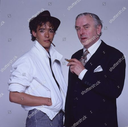 Editorial image of George Cole and son Crispin Cole - 1990