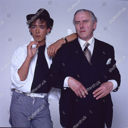 Stock Photo of Studio photoshoot with George Cole and his son Crispin Cole.