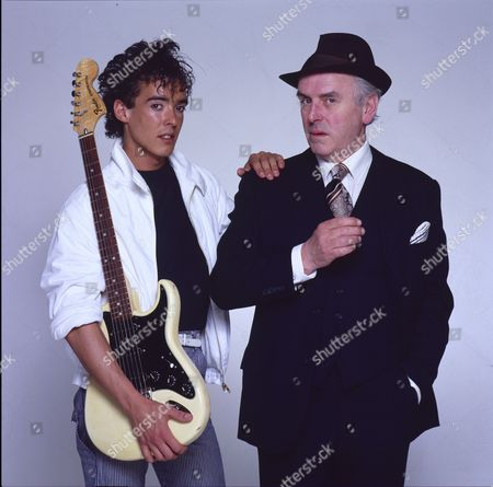 Studio photoshoot with George Cole and his son Crispin Cole.