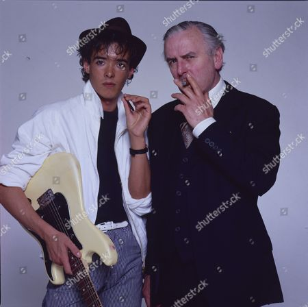 Stock Image of Studio photoshoot with George Cole and his son Crispin Cole.