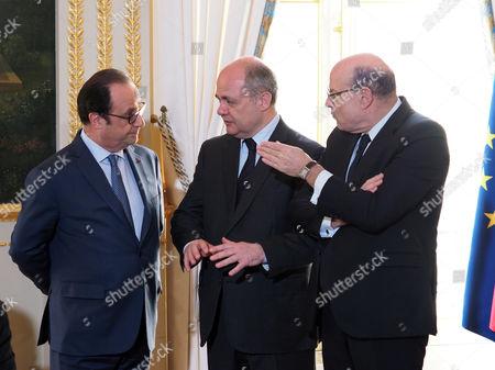 Bruno Le Roux, Jean-Marie Le Guen and Francois Hollande