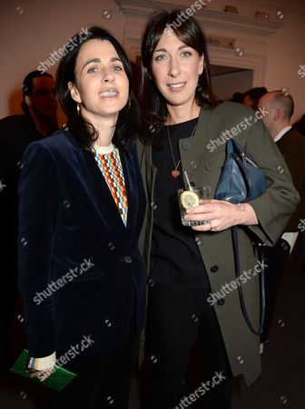 Emily Sheffield and Samantha Cameron