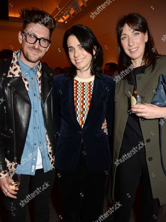 Henry Holland, Emily Sheffield and Samantha Cameron