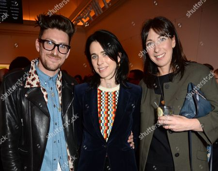 Stock Photo of Henry Holland, Emily Sheffield and Samantha Cameron