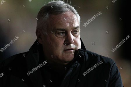 Dave Jones, Hartlepool Manager looks on before the EFL Sky Bet League 2 match between Cambridge United and Hartlepool United at the Cambs Glass Stadium, Cambridge