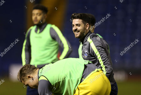 Robert Harris of Bristol Rovers smiles during the warm up