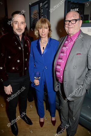 David Furnish, Kathy Gilfillan and Paul McGuinness