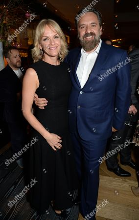 Elisabeth Murdoch with Keith Tyson