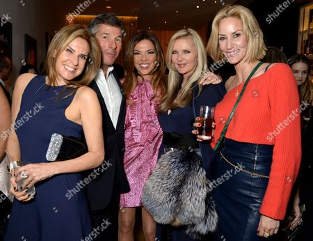 Stock Picture of Heather Kerzner and Amanda Wakeley with Hugh Morrison and  Lisa Butcher