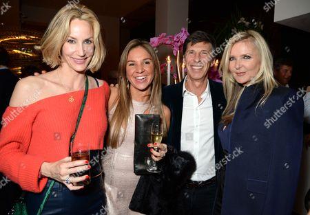 Amanda Wakeley (R) with Lisa Butcher, Nathalie Dauriac-Stoebe, Amanda Wakeley