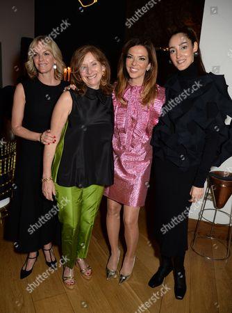 Anita Zabludowicz, Heather Kerzner with Liz Murdoch